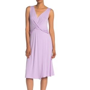 The Vanity Room Lavender Knit Midi Dress